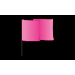 Drapeau supporter 90x60 - deux couleurs