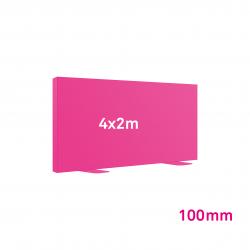 Cadre tissu Autoportant 100mm 4x2m