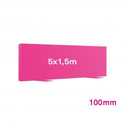 Cadre tissu Autoportant 100mm 5x1.5m