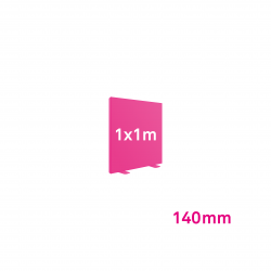 Cadre tissu Autoportant 140mm 1x1m