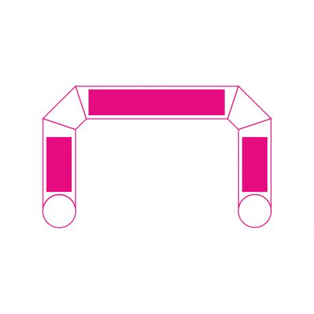 arches avec banderoles amovibles ou définitives imprimées 2 faces