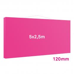 Cadre tissu Mural 120mm 5x2.5m