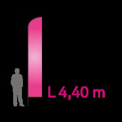 """BASIC BANNER """"L"""" 4.40M + PLAQUE ACIER"""