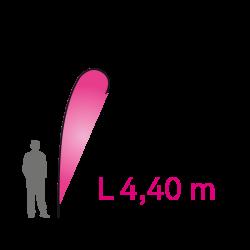 """Flying Banner """"L"""" 4.40m - Complet"""