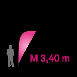 """Pavillon Banner """"M"""" 3.40m - Complet"""