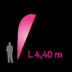 """Pavillon Banner """"L"""" 4.40m - Complet"""