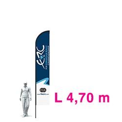 """FIRST BANNER """"L"""" 4.70M + PLAQUE ACIER"""