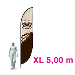 "Feather Banner ""XL"" - 5.00m - Complet"