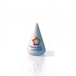 Bouée conique 155x210 Marquage sur fond blanc amovible 2 faces