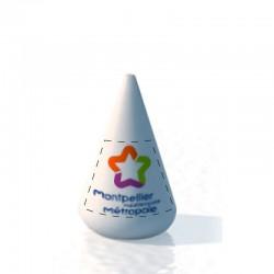 Bouée conique 185x260 Marquage sur fond blanc amovible 2 faces
