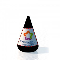 Bouée conique 185x260 Marquage fond couleur amovible 2 faces