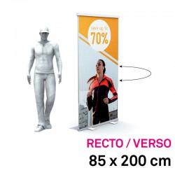 Roll up visuel recto-verso 85x200 speciaux