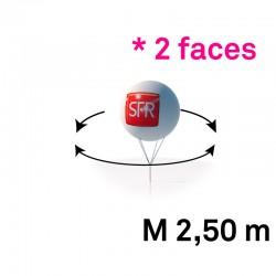 Sphère pvc 2.50m imprimee 2 faces