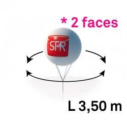 Sphère pvc 3.50m imprimee 2 faces