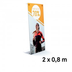 Xbanner pro complet 2x0.8m