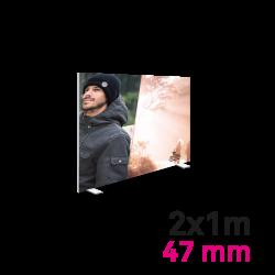 Cadre Autoportant 47mm 2 x 1 m