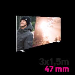 Cadre Autoportant 47mm 3 x 1.5 m