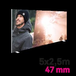 Cadre tissu Autoportant 47mm 5x2.5m