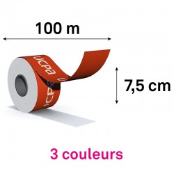 ROULEAU 100M / HAUTEUR 7.5CM - 3 coul pantone à plat