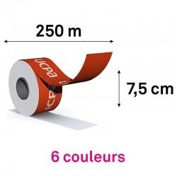 ROULEAU 250M / HAUTEUR 7.5CM - 6 coul pantone à plat