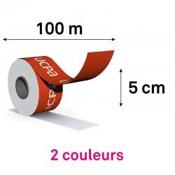 ROULEAU 100M / HAUTEUR 5CM - 2 coul pantone à plat