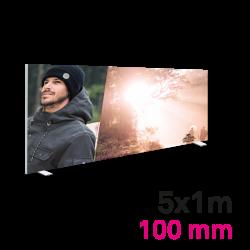 Cadre tissu Autoportant 100mm 5x1m