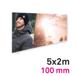 Cadre tissu Autoportant 100mm 5x2m