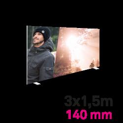 Cadre Autoportant 140mm 3 x 1.5 m