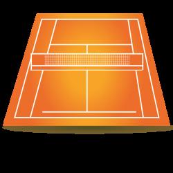 Terrain de tennis gerflor