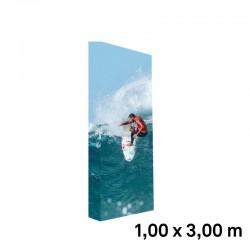 Mur image tissu tendu 1x3m