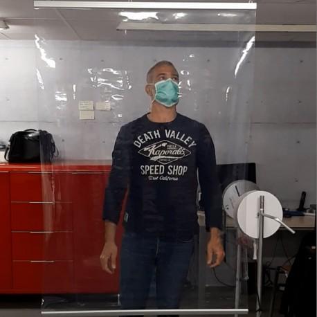 Cloison transparente à suspendre