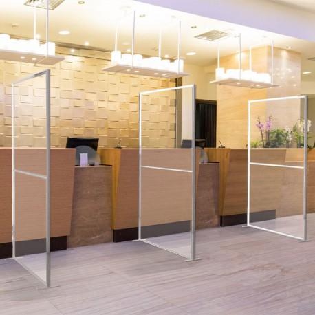 Cloison transparente 1x2m